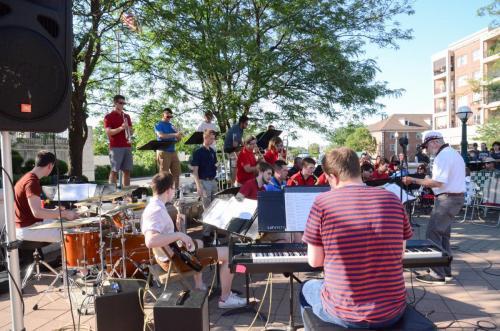 Purdue Summer Jazz Band warming up