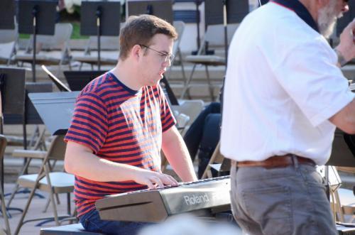 Ben Weber on keyboard for Purdue Summer Jazz Band