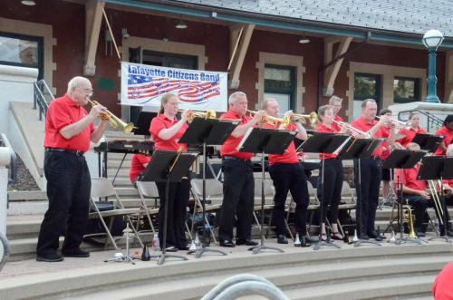 "Trumpet section on ""Bugler's Holiday"""