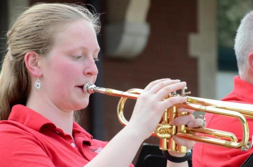 """Trumpet section on """"Bugler's Holiday"""""""