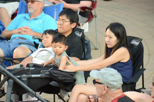 The Hur family enjoying the concert
