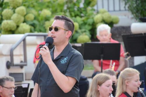Dustin Hopkins, guest soloist, singing two Sinatra favorites