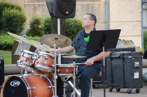 E. J. Rodriguez performs on C Jam Blues