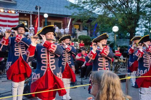 Tippecanoe Ancient Fife and Drum Corps gives the band a break