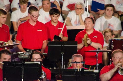 """Percussion section has some fun on """"Curtain Call"""""""
