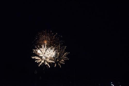 Fireworks conclude  a beautiful evening of music and weather