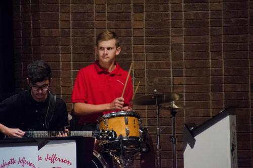 Jeff HS drummer Charles also plays percussion in the LCB