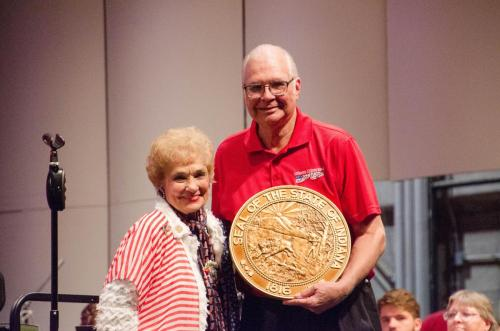 Sheila and Bill with the Circle of Corydon Award